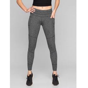 Athleta Excursion Tight in Black Heather size M T